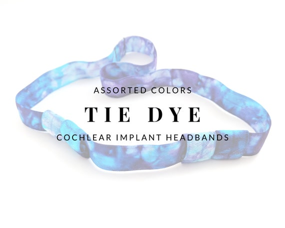 TIE DYE (Assorted Colors) Bilateral Cochlear Implant Headband