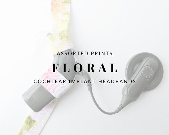 FLORAL (Assorted Colors) Bilateral Cochlear Implant Headband