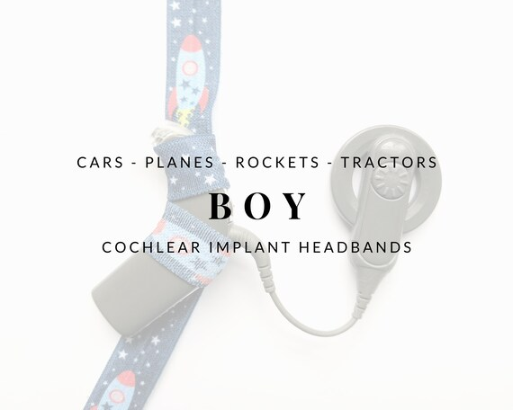 BOY (Unisex Assorted Prints) Bilateral Cochlear Implant Headband