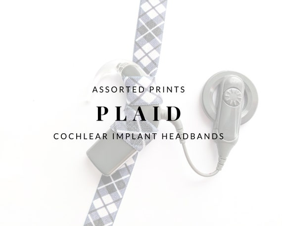 PLAID (Assorted Colors) Bilateral Cochlear Implant Headband