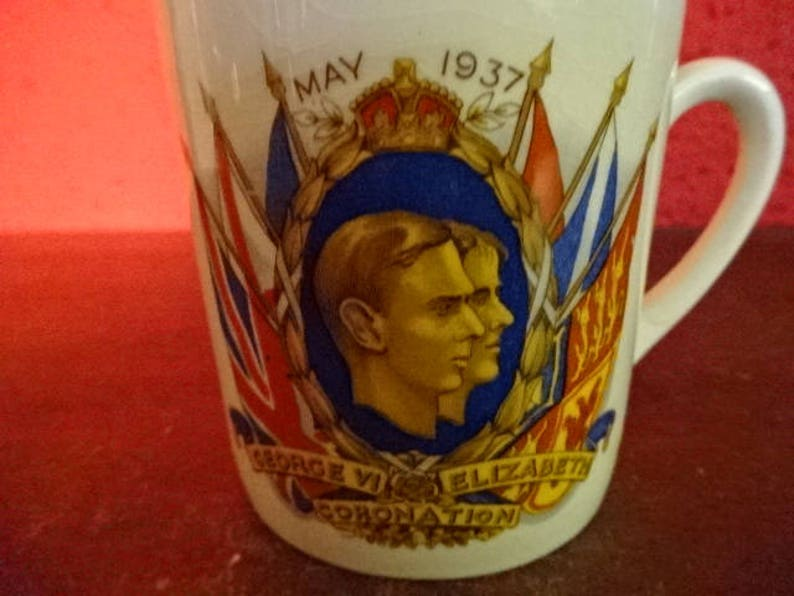 Vintage Commemerative MugTo Commemerate The Coronation of King George 6th May 1937Royal SouvenirCommemerative CupCollectable1937