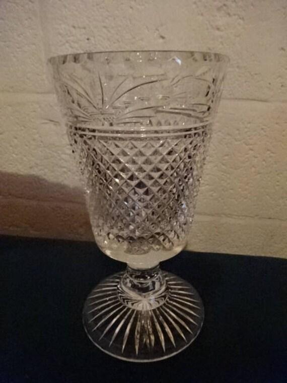 17 Stunning Glass Balcony House Design Ideas: Stunning Lead Crystal Cut Glass Vase/vintage