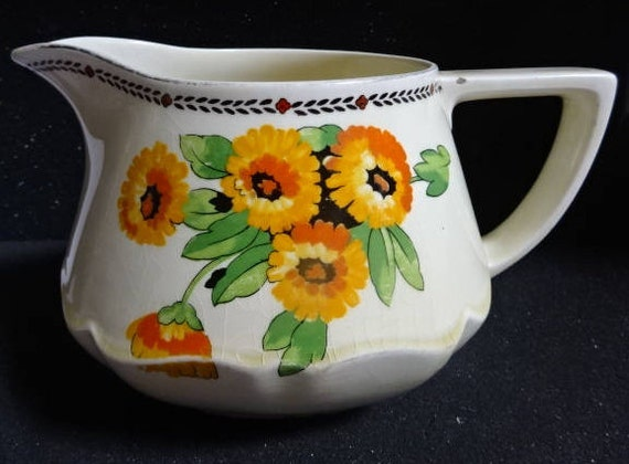Pottery & China Crown Ducal Crown Ducal Poppy Jug Bright In Colour