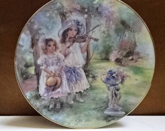The Leonardo Collection Decorative Collectors Plate/Midsummer Melody by Christine Haworth/Collectable/Vintage/1980s