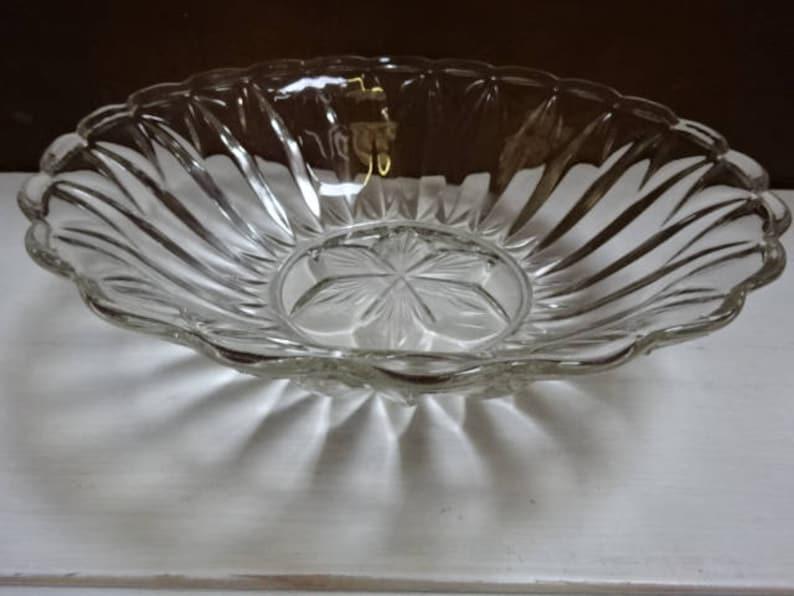 Pressed Glass BowlFruitDessertsVintage