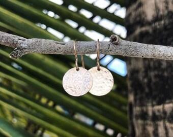 Sol Earrings Hammered Disc Earring Set Handmade
