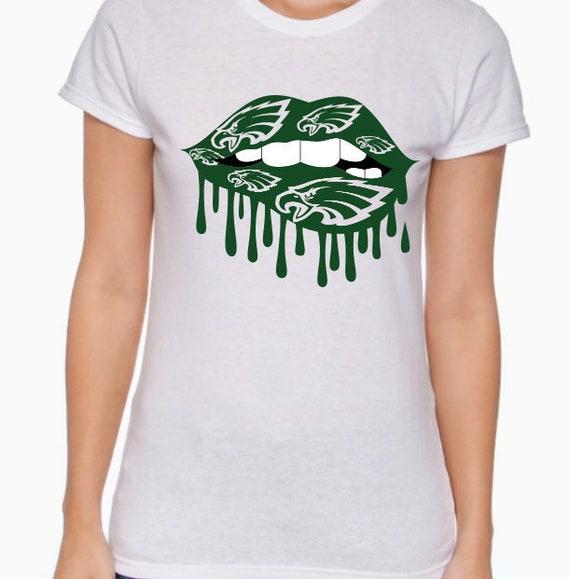 b6fce4944aa Women s Eagle Lips T Shirt Philadelphia Eagles T Shirt