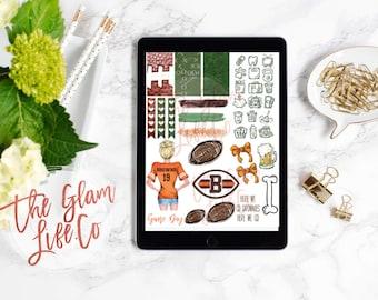 Football Digital Planner sticker page