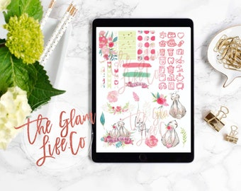 Some Bunny to Love Digital Planner sticker page