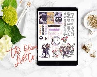Creepy Valentine Digital Planner sticker page