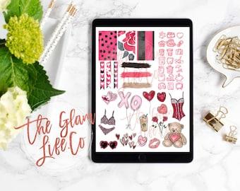 Naughty Valentine Digital Planner sticker page