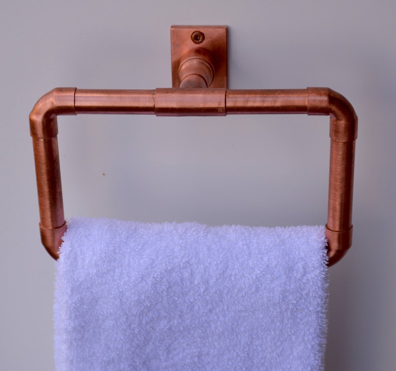 Pleasant Copper Hand Towel Ring Copper Towel Bar Copper Towel Rail Copper Bathroom Fixture Copper Towel Rod Industrial Steampunk Copper Bathroom Download Free Architecture Designs Scobabritishbridgeorg