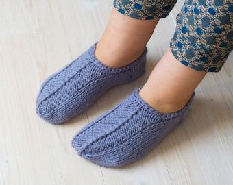 51fb0dee5270fa Cozy warm slippers alpaca blend slipper socks Lavender wool blend knitted  winter knit socks handknit wool slippers knited slippers