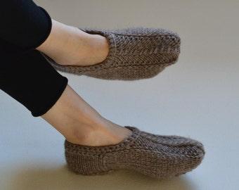 08c443698fb481 Warm alpaca blend slippers Handknit wool slipper socks Knited women warm  soft wool slippers Knitted slippers Knit Socks. MagikNeedle