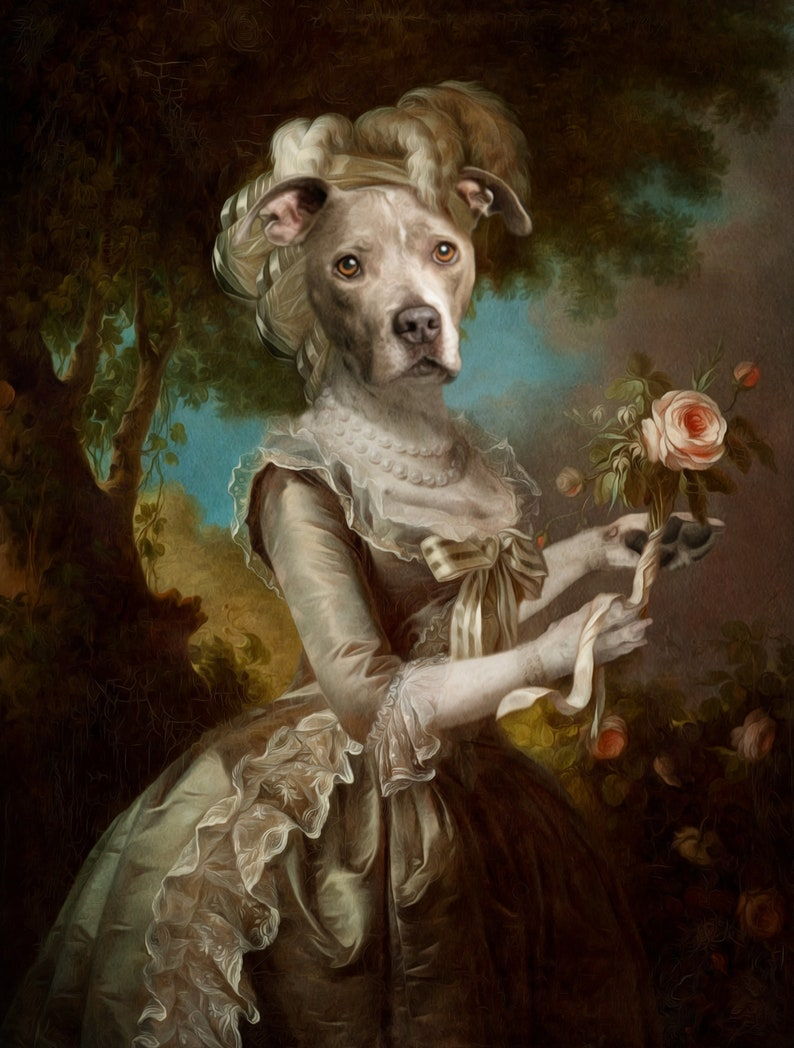 Whimsical and humorous, formal dog painting by Etsy Awards Finalist Animal Aristocrats Renaissance Pet Portrait. Come discover Handmade Decor & One of a Kind Finds from Etsy Award Finalists: Hello, Lovely Makers!