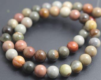 8mm Round Beads Polychrome Jasper 317054002
