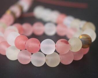 Matte Cherry Quartz Round Stone Beads Supply,15 inches one starand