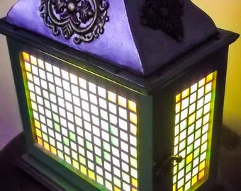 Bright lantern lamp on 4 sides