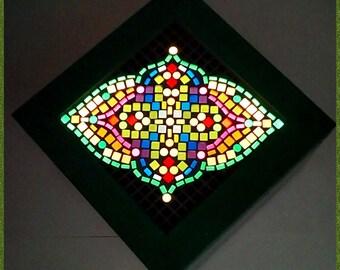 Decorative or luminous storage box Led, model mandala