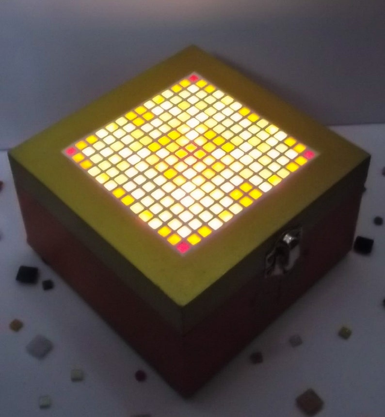 Jewelry box or storage box or decorative light box LED