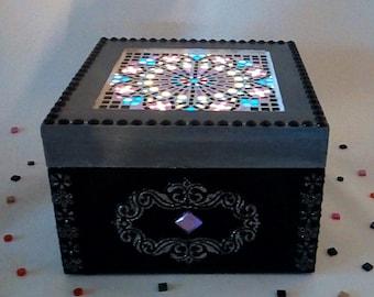 Decorative light box led decorative micro mosaics.