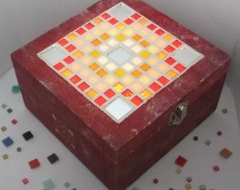 Decorative storage box with Led