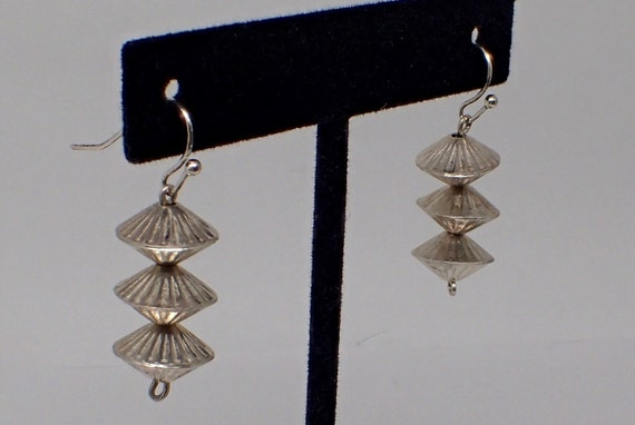 Sterling Mid Century Earrings 1960's Japanese Lant