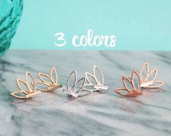 Lotus Flower Bar Earring Jackets