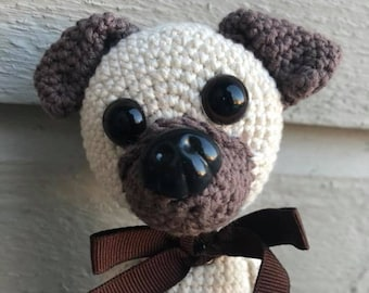 Animal/Puppy/pug/crochet/stuffed/amigurumi/crochet dog/cute/crochet toy/child gift/