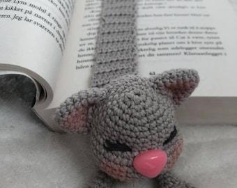 Cat bookmark/Crochet/Amigurumi/DIY/Gift for teacher/Animal bookmark/Gift for book lovers/Cat bookmark/Crochet bookmark/Funny bookmark