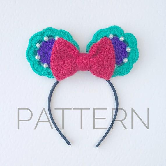 Ariel Inspired Crochet Mouse Ears//Crochet Pattern//Little | Etsy