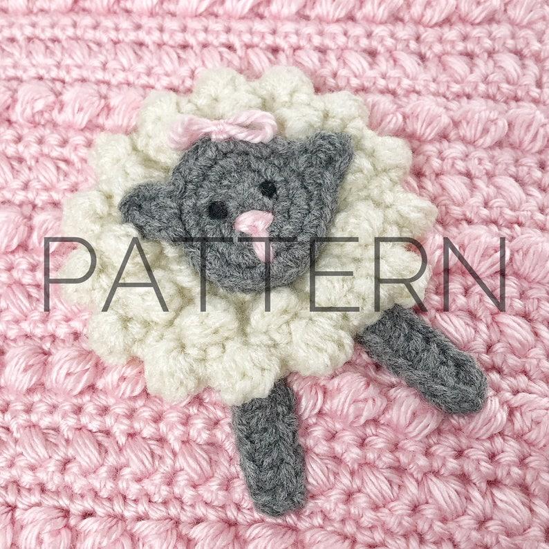 06b16cb3715efe Crochet Lamb Applique Pattern  Crochet Applique  Crochet
