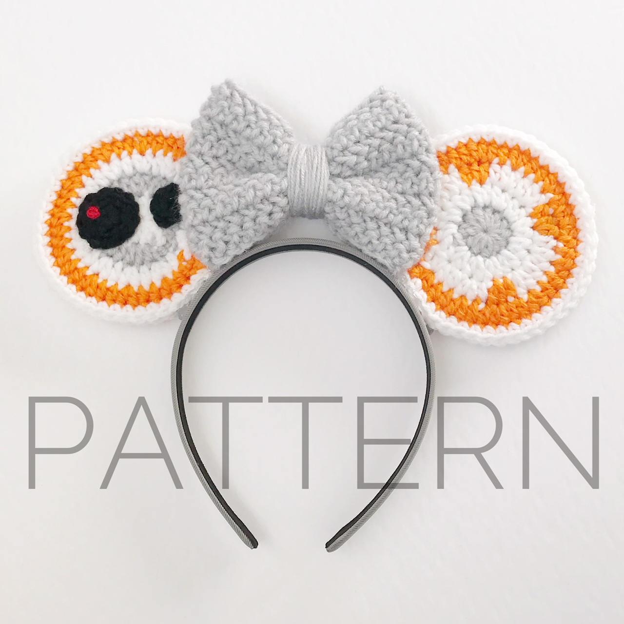 Bb8 Inspired Crochet Mouse Earscrochet Patternstar Etsy