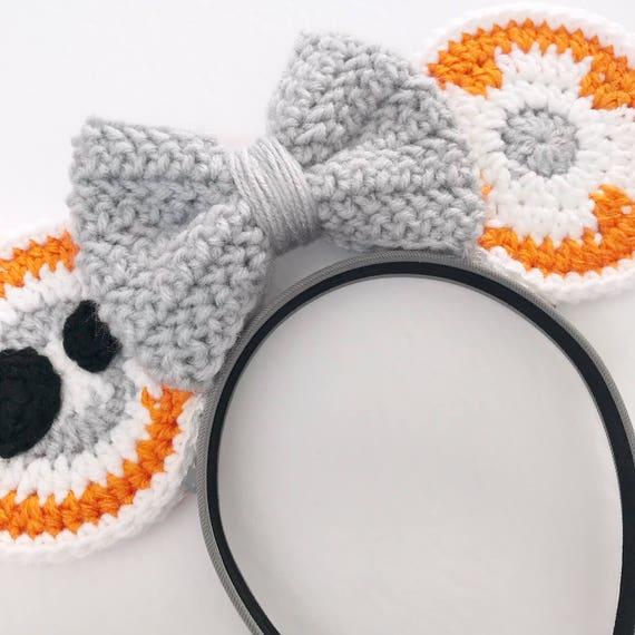BB8 Inspired Crochet Mouse Ears//Crochet Pattern//Star | Etsy