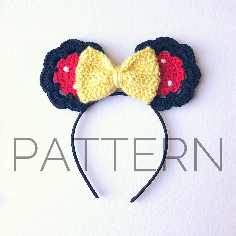 Minnie Inspired Crochet Mouse Earscrochet Patternminnie Etsy