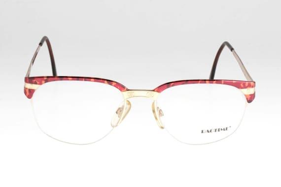 Clubmaster Inspired semi-rimless glasses, enamel t