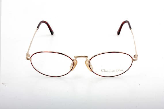 379b06b4cb79 Christian Dior oval spectacles golden metal frames with