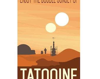 Star Wars Tatooine Travel Poster