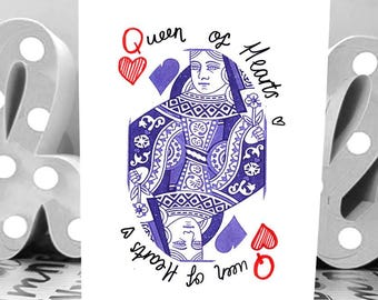 Queen of Hearts - A6 - Anniversary Card