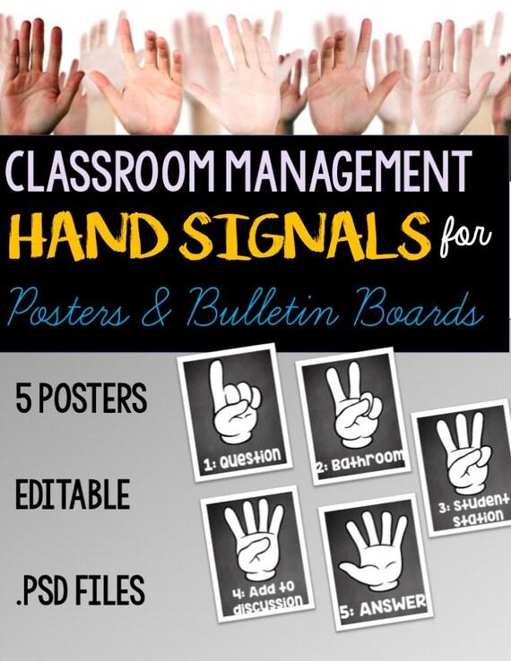 Excellent Editable Classroom Management Signs Hand Signals Download Free Architecture Designs Scobabritishbridgeorg