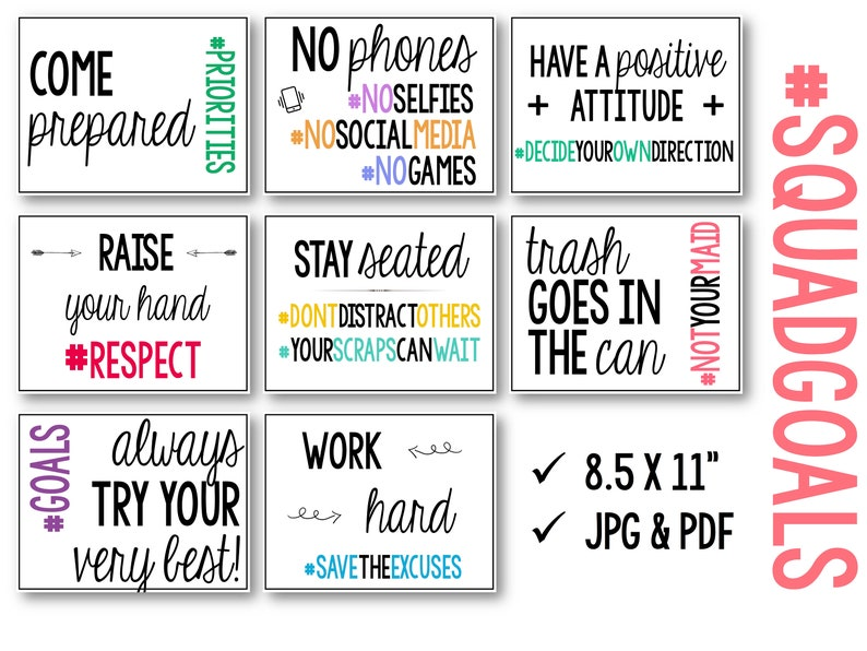 picture relating to Classroom Signs Printable referred to as Hashtag Symptoms/Posters for Bulletin Message boards or Clroom: Printable!