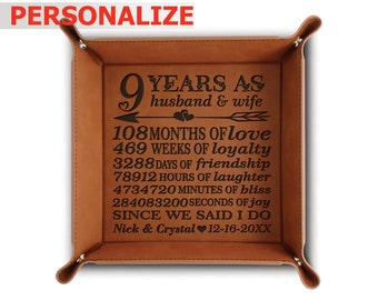 Etched 9th Anniversary Pottery Your Photo Hand Engraved by Artists on Real Leather RARE Pyrography Handmade Technique