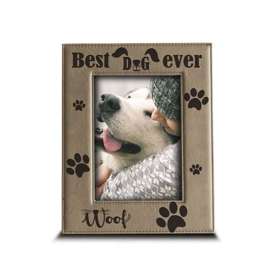 Best Dog Ever Picture Frame Dog Picture Frame Dogie Paw Etsy