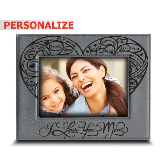 Mother/'s Day Gift Gift For Mom Mom Son Picture Frame Mom Picture Frame My Heart Belongs To My Mom