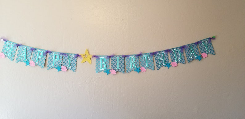 Under the Sea Happy Birthday Banner