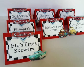Cars tent cards