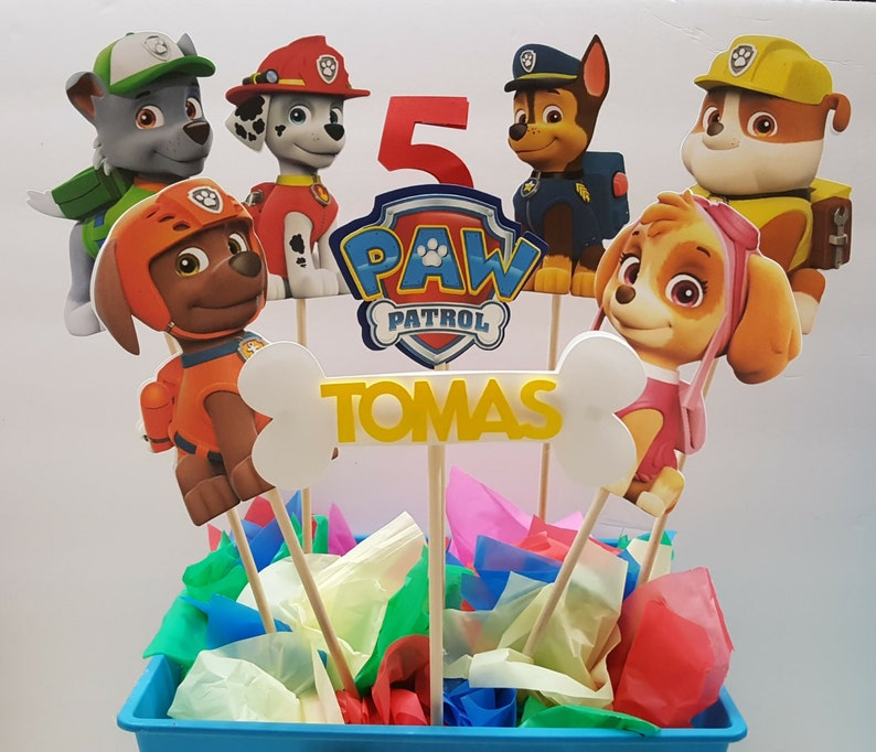 Paw Patrol Centerpiece Sticks