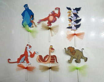 3 inch cake toppers set of 6