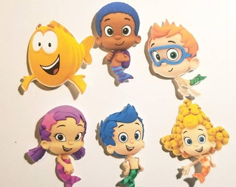 Bubble Guppies  cake pop tags