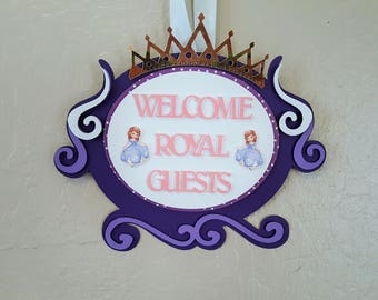 Sofia The First Entrance Sign